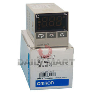 OMRON-E5CS-R1KJX-DIGITAL-TEMPERATURE-CONTROLLER-THERMOSTAT-100-240-VAC-NEW