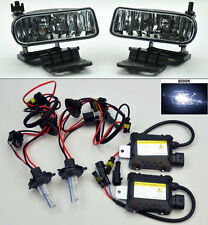 Chevy Silverado Tahoe Suburban Escalade Clear Front Fog Lights + 8000K HID kit