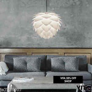 vita copenhagen lighting large white silvia pendant lamp. Black Bedroom Furniture Sets. Home Design Ideas
