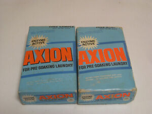 Lot of 2 Vintage  Boxes of AXION Pre-soak Laundry Enzyme Action Colgate Sample