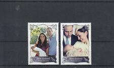 New Zealand NZ 2014 MNH Royal Visit 2v Set Prince William Kate George Baby