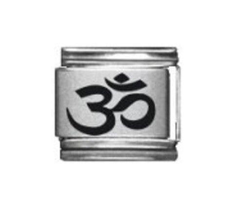 9mm  Italian Charm L69 Aum Om Hindu Symbol  Fits Classic Size Bracelet