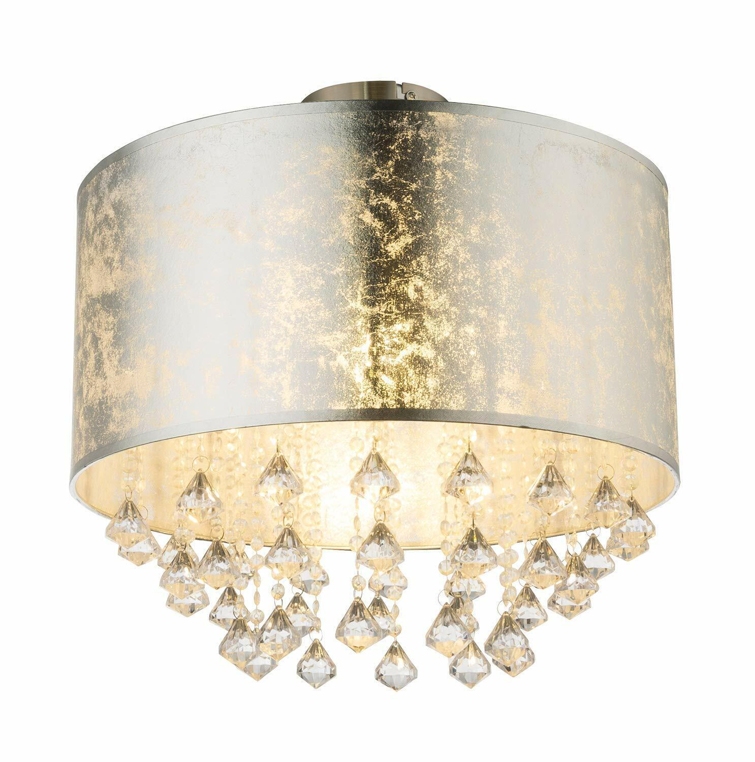 Globo Amy1 Ceiling Light Flush Mount Silber 38cm H x 40cm W x 40cm D
