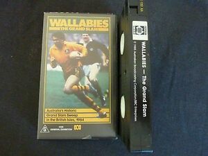 WALLABIES-THE-GRAND-SLAM-1984-RARE-VHS-VIDEO-RUGBY-UNION-ENGLAND-LIONS