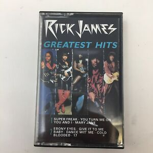 Vtg-Rick-James-034-Greatest-Hits-034-Cassette-Tape-1986-R-amp-B-Funk-Motown-N4A