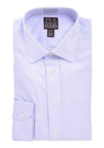 Jos-A-Bank-Tailored-Fit-Blue-Tonal-Herringbone-Spread-Collar-Cotton-Dress-Shirt