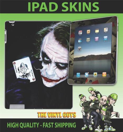 3G 4G /& WIFI Adesivo Vinile Batman Il Joker perché così grave Pelle Apple iPad 2 3