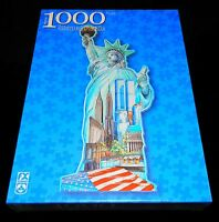 1000 Piece Statue Of Liberty Shaped Puzzle With Usa World Trade Center