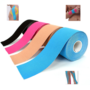 Kinesiology-Tape-Sports-Physio-Muscle-Strain-Injury-Support-Uncut-5cm-x-5m