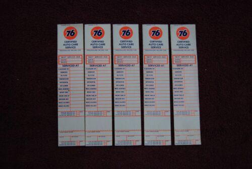 5 1970/'s Union 76 Oil Change Service Door Jam Stickers NICE Original Set