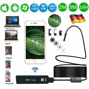 de WiFi Endoskop 1200P USB Endoscope Inspektion Kamera 8 LED für ios Android DHL