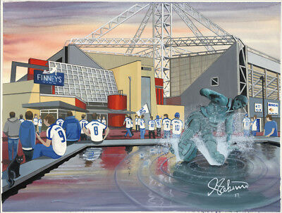 """JACK KAVANAGH /""""GOING TO THE MATCH/"""" PRESTON NORTH END FRAMED PRINT"""