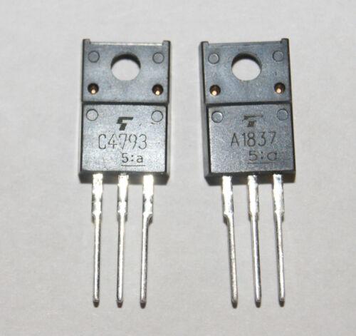 Nuevo Transistor 2SA1837 2SC4793 Power Amplificador A1837 C4793 1 Par