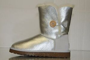 Image is loading New-UGG-Uggs-Classic-Short-metallic-Silver-LEATHER-