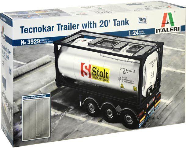 Italeri 1 24 3929  Trailer Tecnocar with 20` Tank