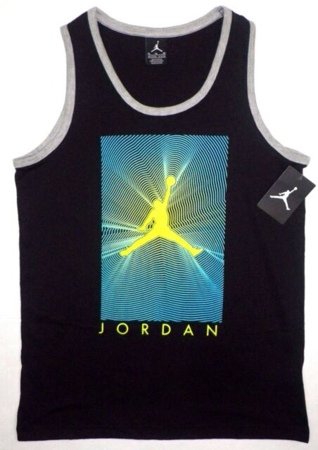 6d20d1a43005 Nike Air Jordan Big Boys Jumpman Muscle Tee Tank Top Logo Black Y XL 13-15  Age for sale online