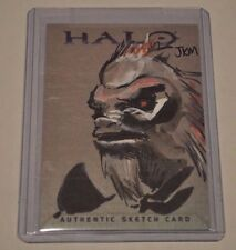 Halo Brute Trading Card 2007 Topps Authentic Artist Sketch by JKM RARE 1/1