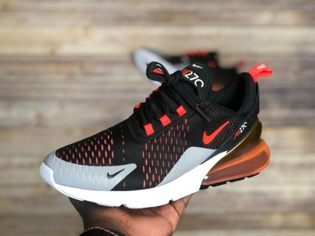 super specials pick up newest Nike Air Max 270 Black Bright Crimson Running Shoes Mens Sz 6 Womens 7.5