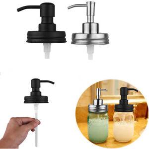 adb71694cb0 Image is loading Stainless-Steel-Mason-Jar-Soap-Lotion-Dispenser-Lids-