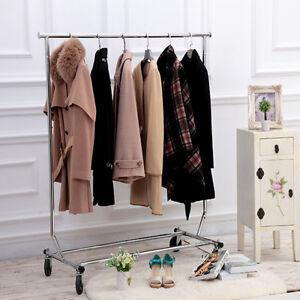 single pole adjustable portable clothes rail display. Black Bedroom Furniture Sets. Home Design Ideas