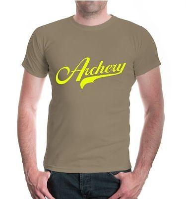 Uomo Unisex A Maniche Corte T-shirt Archery Logo Arco Sparare Schießsport Sagittario- Fabbricazione Abile