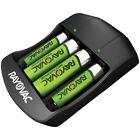 Rayovac Rechargable Battery Charger 2 or 4 AAA / AA Batteries 2700 mAh Nimh/nicd