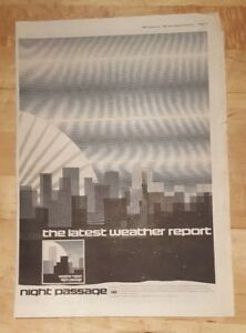 Weather-Report-Night-Passage-1980-press-advert-Full-page-37-x-27-cm-poster