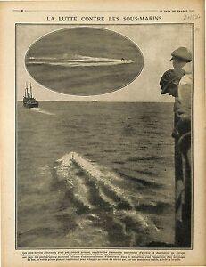 Boats-US-Navy-Submarine-U-Boat-Sous-Marins-Kaiserliche-Marine-Periscope-1917-WWI
