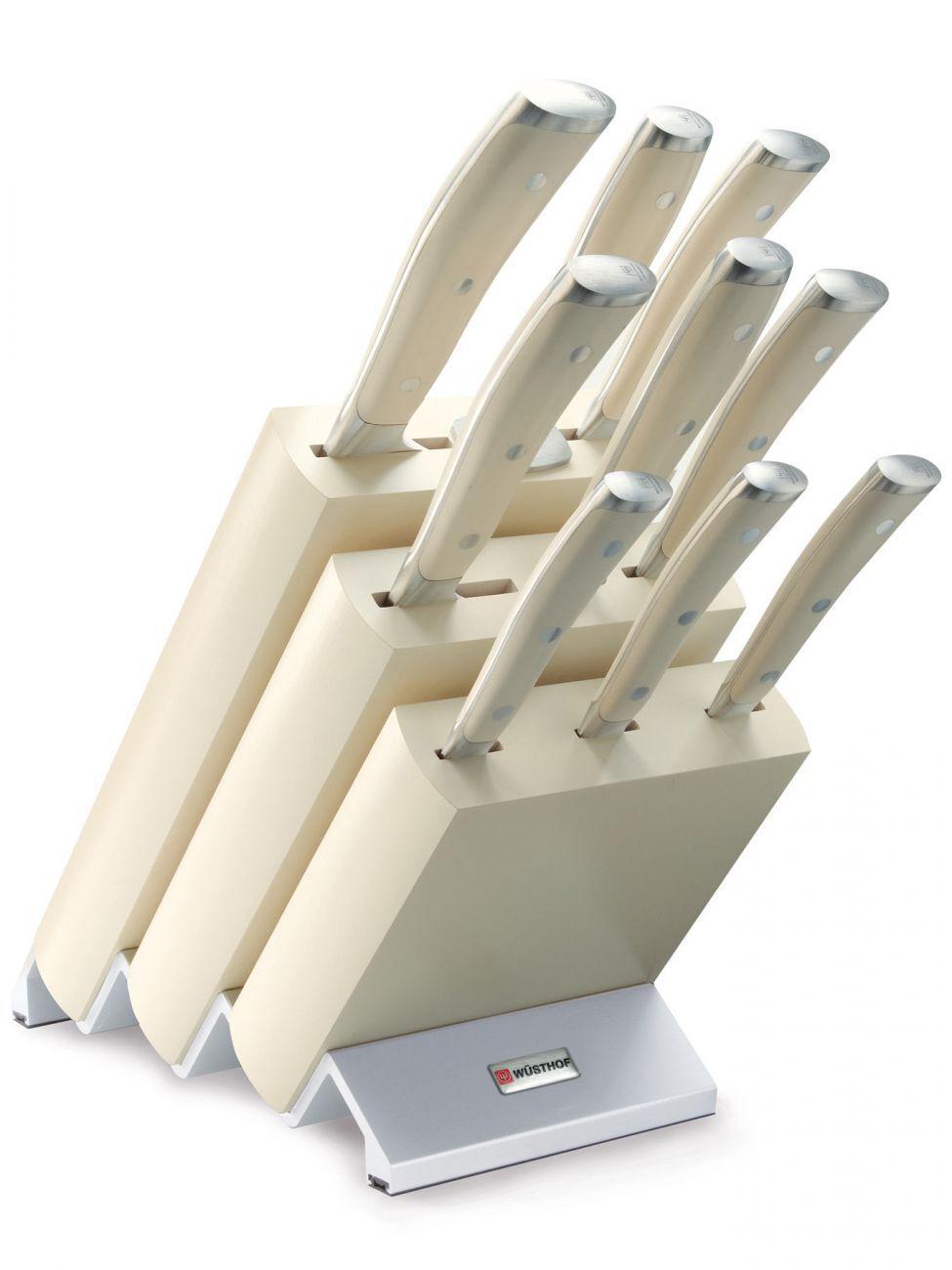 Wüsthof Classic Ikon Blanc 9874 Couteaux Bloc Set Blanc Crème Membré avec 9 pièces