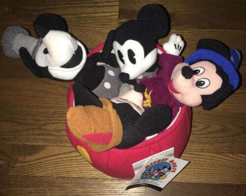 The Disney Store 70th Anniversary Mickey Mouse Mini Bean Bag Set - Beanie