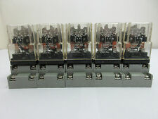 5 X Potter & Brumfield KRPA-11AY-120 120V 50/60Hz Relays with bases.
