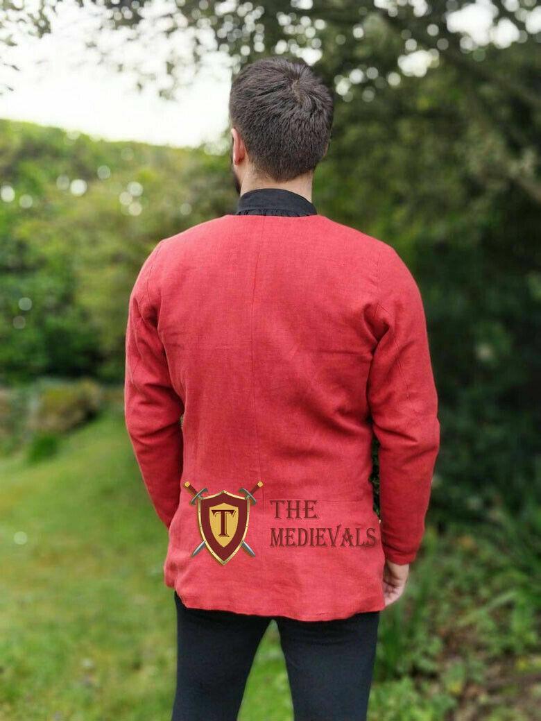 Medieval knight armor Gambeson PLANE Shirt Aketon costumes Jacket sca