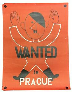 WWII-Poster-Adolf-Subject-Hitler-WANTED-In-PRAGUE-Ca-1939-1945