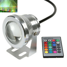 RGB LED Spot Light Garden Underwater Lamp 12V Waterproof 10W Remote Control