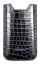 BRIONI Black Crocodile Leather iPhone 5 Blackberry Sleeve Pouch Case Cover NIB