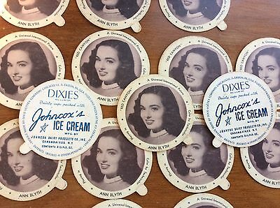 Johncox Dairy ROY ROGERS A Republic Star 2 Vtg Dixies Ice Cream Lid Dixie Cup