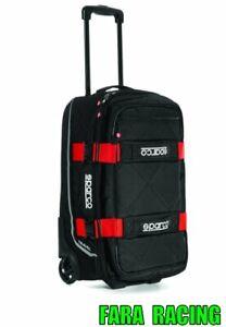 SPARCO-016438Nero-RS-Trolley-dimensioni-Cabina-TRAVEL-48litri-nero-rosso