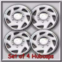Set 4 15 2001-2002 Ford Econoline Van E-150 Hubcaps, Wheel Covers Free Shipping