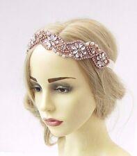 Rose Gold Silver Diamante Bead Ivory Bridal Headpiece Headband Wedding Hair 3442