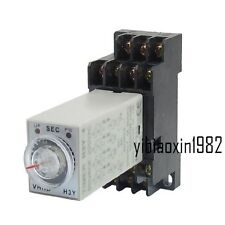 H3Y-4 AC 110V 14 Pins 4PDT 0-1S Timer Delay DIN Rail Time Relay wth PYF14A Base