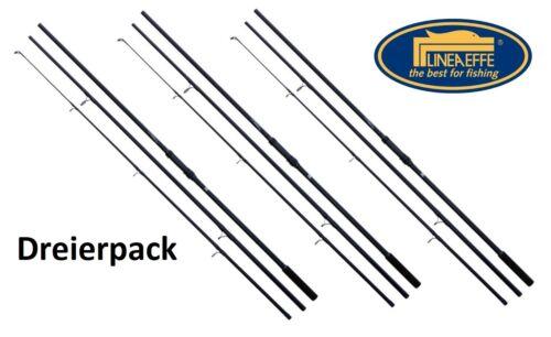 3x Lineaeffe carp Seeker karpfenrute 3,60m//3,00lbs//3 piezas karpfenangel set