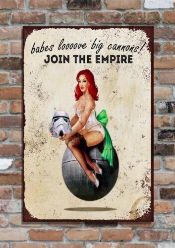 """2 10x8/"""" Retro Vintage Metal Advertising Sign Plaque STAR WARS Empire"""