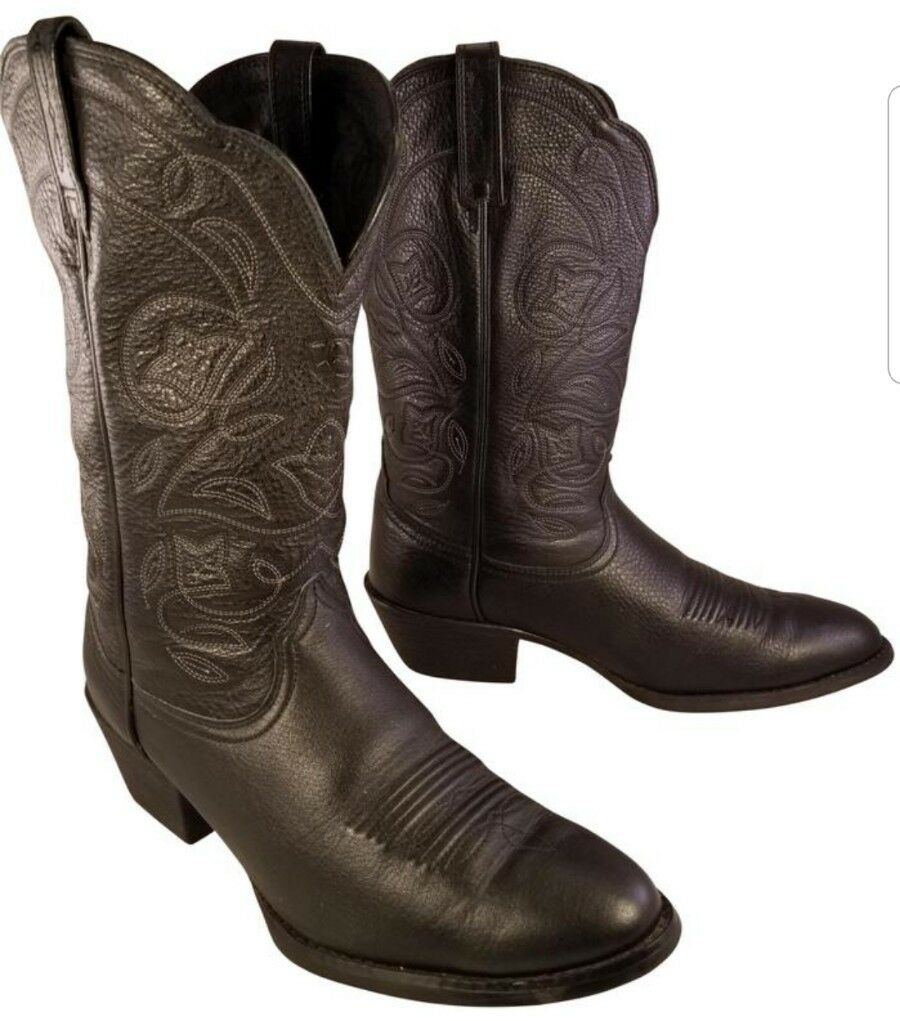 ARIAT HERITAGE Damenschuhe Damenschuhe HERITAGE Stiefel BLACK LEATHER WESTERN COWBOY SIZE 8.5 B 2f6457