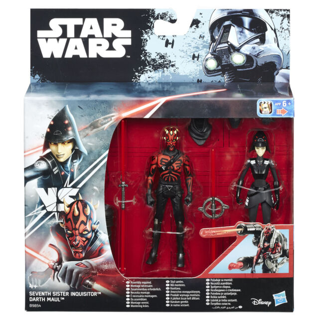 """Star Wars Rebels 3.75"""" Seventh Sister Inquisitor VS Darth Maul Figures by Hasbro"""