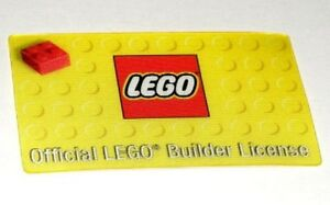 Details about OFFICIAL Lego BUILDER LICENSE ~ Real License Size/Feel 3D  Yellow Party Favor NEW