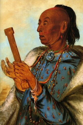 COCK TURKEY REPEATING HIS PRAYER USA AMERICAN INDIAN 1830 BY GEORGE CATLIN REPRO