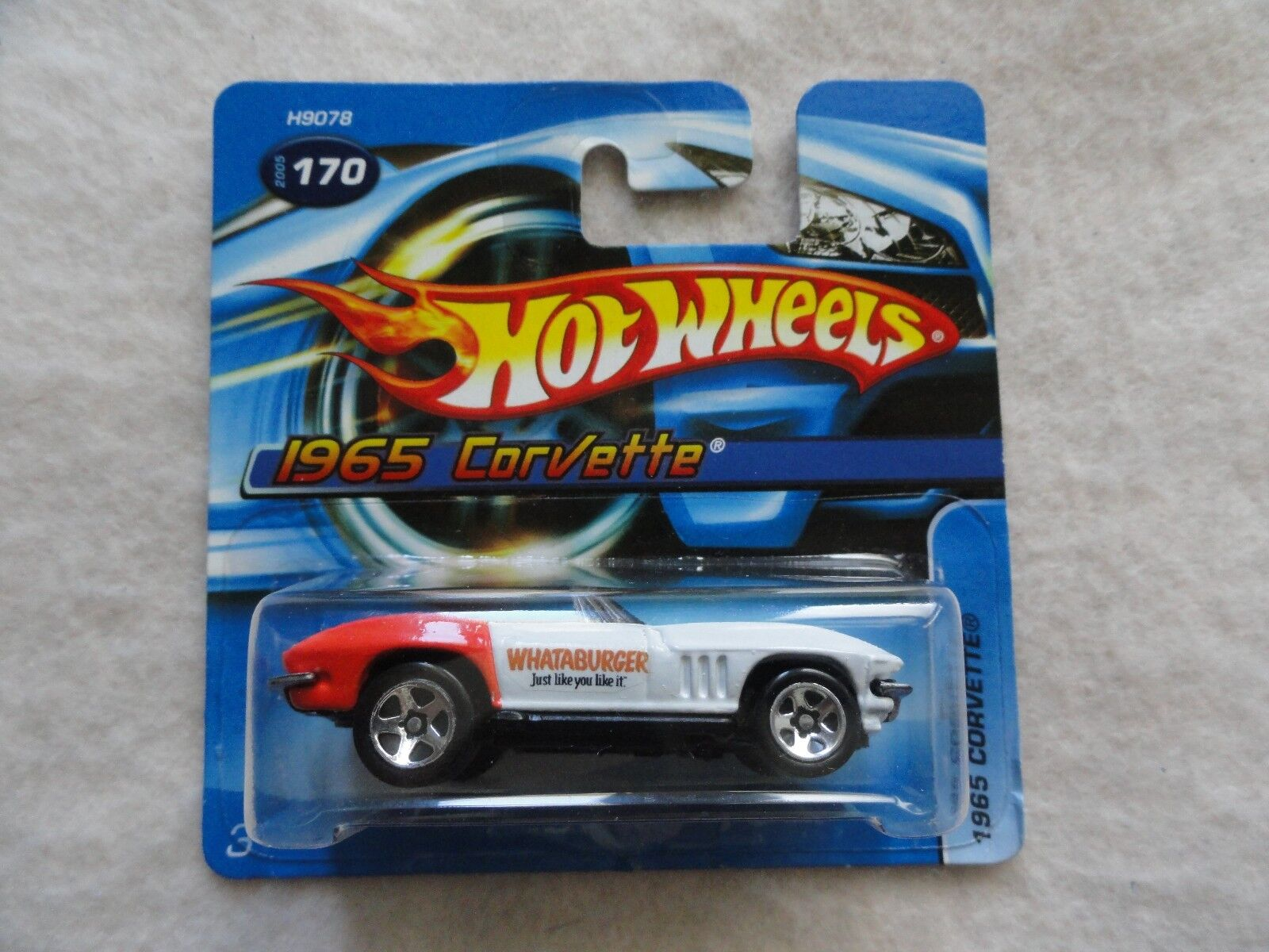 1965 corvette   170 whataburger hot wheels neue kurz - karte selten