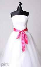 Satinband Gürtel Zopfband Schleife Lafairy für Kleid Hut Frisur 16 Farbe Auswahl