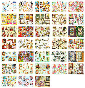 Jolly Paper Nation bargain decoupage kit scissors needed 20 sheets card craft
