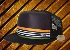 New Billabong Spinner Black Trucker Snapback Cap Hat